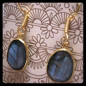 Sitara Collections Jewelry - Gold plated Labradorite Earrings